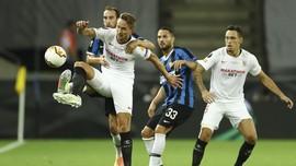 Final Liga Europa: Sevilla vs Inter Imbang di Babak Pertama