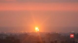 VIDEO: Roket Israel Kembali Hantam Gaza saat Fajar
