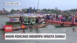 VIDEO: Angin Kencang Menerpa Wisata Danau