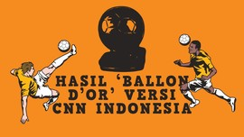 INFOGRAFIS: Hasil 'Ballon d'Or' Versi CNN Indonesia