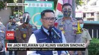 VIDEO: Ridwan Kamil Jadi Relawan Uji Klinis Vaksin Sinovac