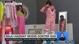 VIDEO: Dokter Gigi di Malang Membuat Baju Hazmat Modis