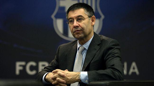 Presiden Barcelona Josep Bartomeu dituduh korupsi terkait kerja sama dengan konsultan media sosial I3 Ventures.