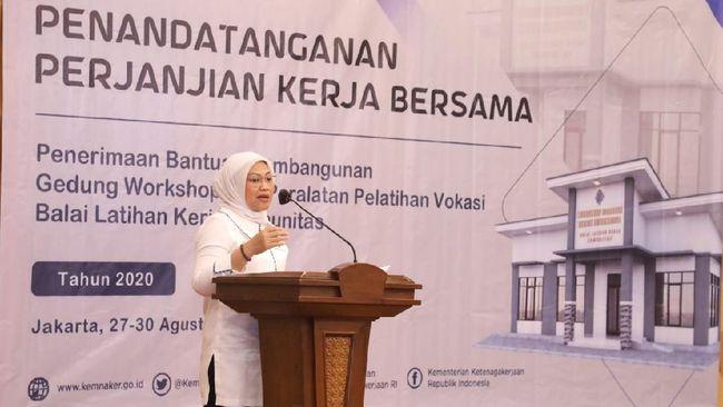 Kementerian Ketenagakerjaan kembali meluncurkan program bantuan Balai Latihan Kerja (BLK) Komunitas kepada Serikat Pekerja/Serikat Buruh pada Kamis (27/8).