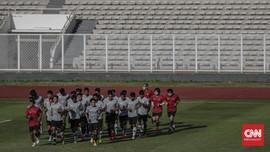 FOTO: Latihan Timnas Indonesia U-19 Sebelum Terbang ke Eropa
