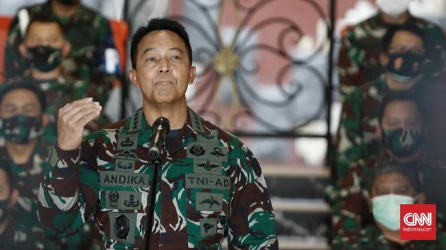 KSAD Jenderal TNI Andika Perkasa tengah melakukan pemeriksaan internal setelah seorang prajurit Kopassus terlibat pengeroyokan di Jakarta Selatan.