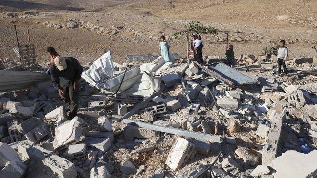 Jumlah rumah milik warga Palestina di Tepi Barat dan Jalur Gaza yang digusur oleh Israel meningkat selama pandemi.