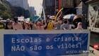 VIDEO: Unjuk Rasa Tuntut Sekolah Dibuka Kembali