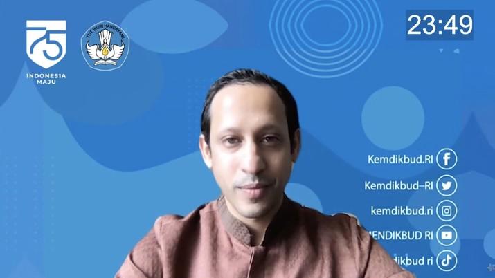 Mendikbud Nadiem Makarim (Tangkapan Layar Youtube Cerdas Berkarakter Kemdikbud RI)