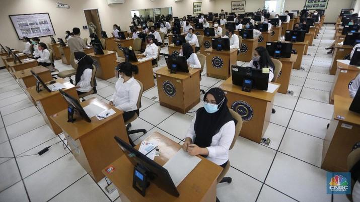 Tes CPNS di Tengah Pandemi (CNBC Indonesia/ Andrean Kristianto)