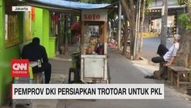 VIDEO: Pemprov DKI Persiapkan Trotoar Untuk PKL
