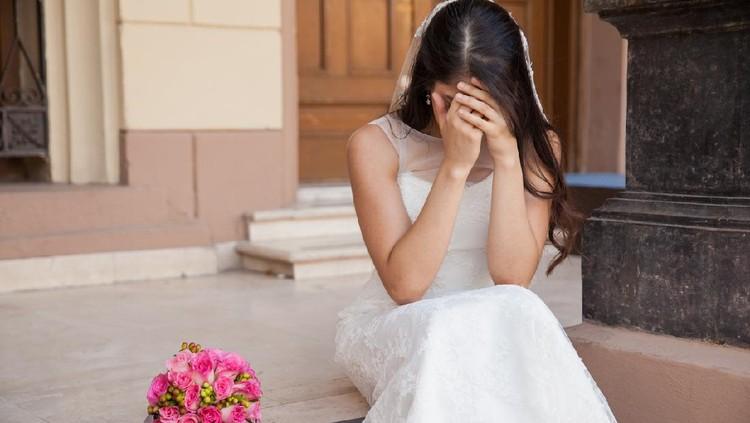 Ilustrasi wanita menikah