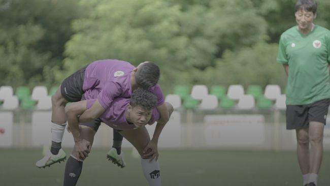 Timnas Indonesia U-19 kembali berlatih dengan intesitas tinggi menjelang laga persahabatan melawan Qatar di Kroasia, Kamis (17/9).