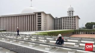FOTO: Ratusan Panel Surya di Masjid Istiqlal