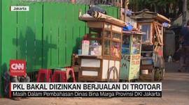 VIDEO: PKL Bakal Diizinkan Berjualan di Trotoar