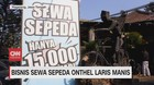VIDEO: Bisnis Sewa Sepeda Onthel Laris Manis