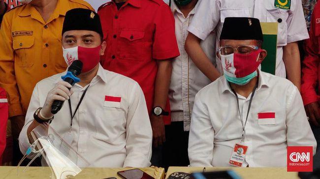 Wali Kota Surabaya Eri Cahyadi mengklaim wilayahnya sudah masuk kategori PPKM Level 1berdasarkan indikator yang dibuat Kemenkes.