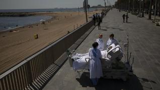 FOTO: Terapi Berjemur untuk Pemulihan Pasien Covid di Spanyol