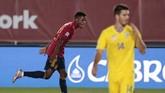 Ansu Fati terus menciptakan sensasi setelah mencetak gol untuk timnas Spanyol pada ajang UEFA Nations League.