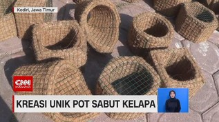 VIDEO: Kreasi Unik Pot Sabut Kelapa