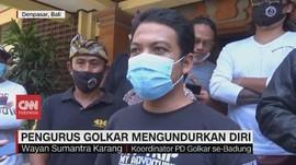 VIDEO: Puluhan Pengurus Golkar Badung Mengundurkan Diri