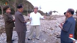 VIDEO: Kim Jong-un Sidak Lokasi Terdampak Topan Maysak
