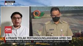 VIDEO: 4 Fraksi Tolak Pertanggungjawaban APBD DKI