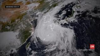 VIDEO: Penampakan Topan Haishen saat Hantam Semenanjung Korea