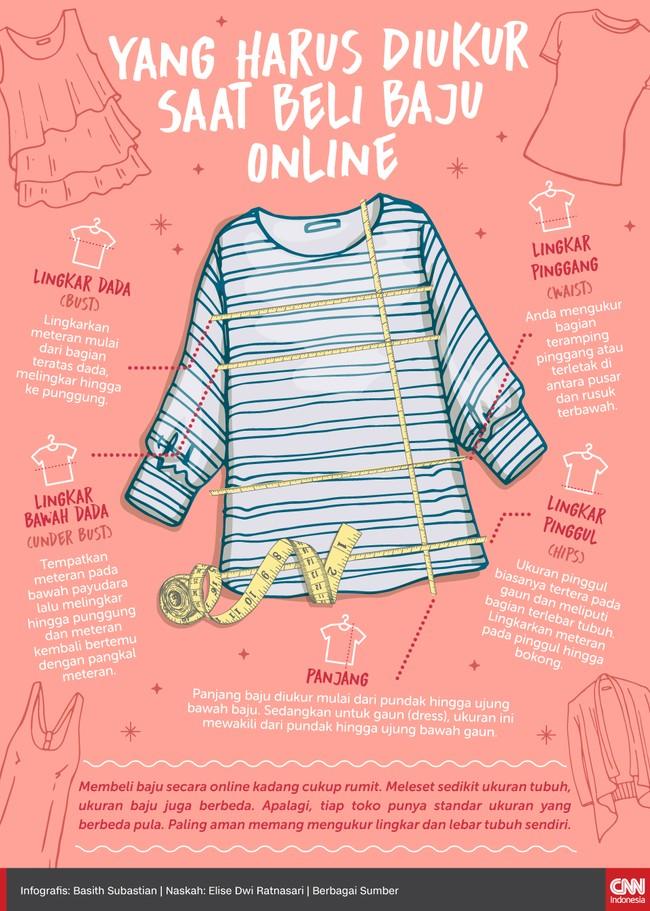 Membeli baju secara online kadang cukup rumit. Meleset sedikit ukuran tubuh, ukuran baju juga berbeda.