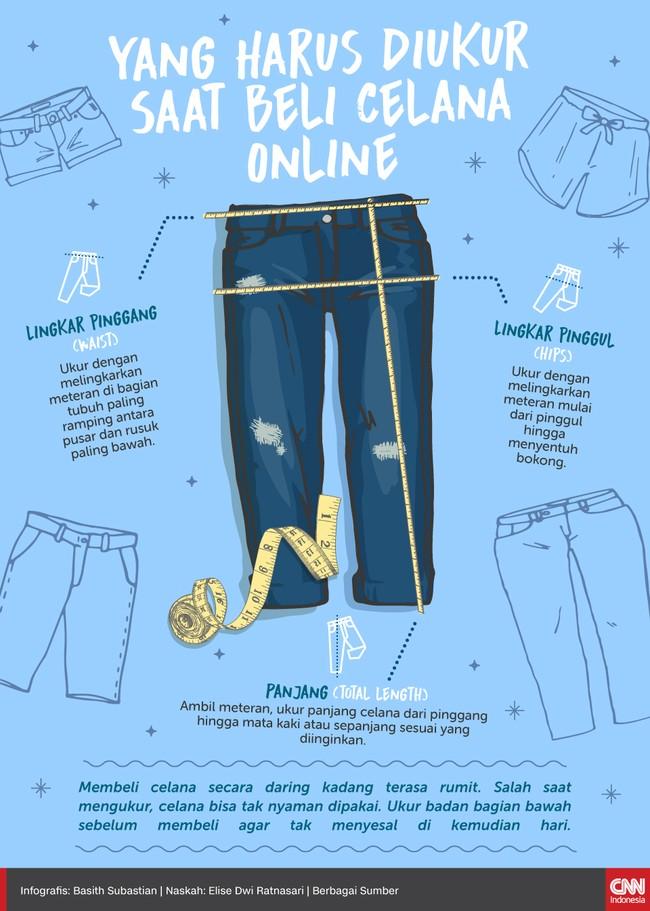 Membeli celana secara daring kadang terasa rumit. Salah saat mengukur, celana bisa tak nyaman dipakai.