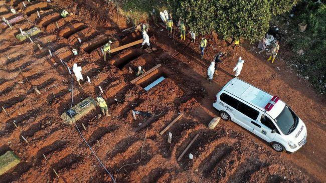 Pemprov DKI Jakarta menyiapkan 1.500 liang lahat khusus jenazah covid-19 di TPU Rororan, Jakarta Utara.
