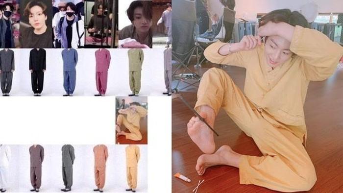 Gak Ribet Padu Padan, Jungkook BTS Tampil Keren dengan 5 Baju Set Ini