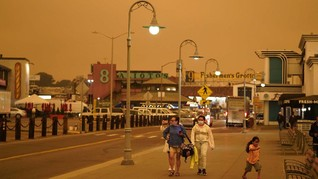 Asap Karhutla California Picu Kualitas Udara Berbahaya