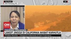 VIDEO: Langit Jingga di California Akibat Karhutla