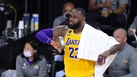 James Gemilang, Lakers Menang di Satu Tahun Kematian Kobe