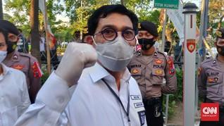 Machfud Arifin Jadikan Positif Corona Modal Kampanye Pilkada