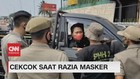 VIDEO:Melawan Saat Razia Masker, Pengendara Terobos Petugas