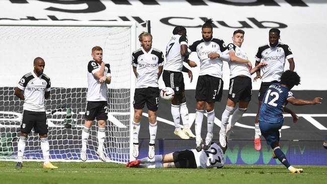Arsenal menaklukkan Fulham dengan skor 3-0. Berikut foto-foto pilihan laga tersebut.