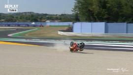 VIDEO: Momen Brad Binder Jatuh di FP2 MotoGP San Marino
