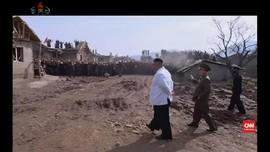 VIDEO: Korea Utara Dihantam Bencana, Kim Jong-un Blusukan