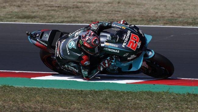 Hasil FP1 MotoGP Emilia Romagna 2020 berakhir dengan Fabio Quartararo menjadi pembalap tercepat mengalahkan Franco Morbidelli.