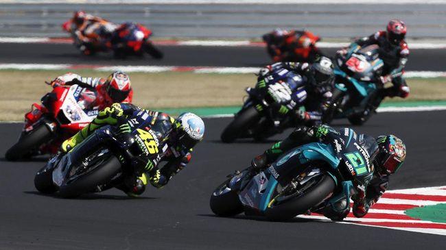 Live streaming MotoGP Emilia Romagna di Sirkuit Misano, Minggu (20/9) malam, dapat disaksikan melalui CNNIndonesia.com.