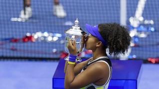 FOTO: Juara US Open, Naomi Osaka Terkenang Kobe Bryant