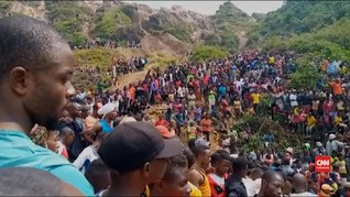 VIDEO: Tambang Emas Kongo Longsor, 50 Orang Tewas