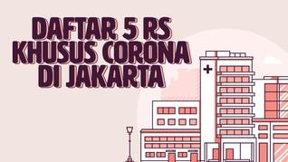INFOGRAFIS: Daftar 5 RS Khusus Corona di Jakarta