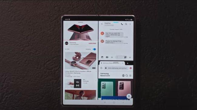 Untuk optimalisasi fungsi Galaxy Z Fold2, Samsung berkolaborasi dengan Googe dan Microsoft.
