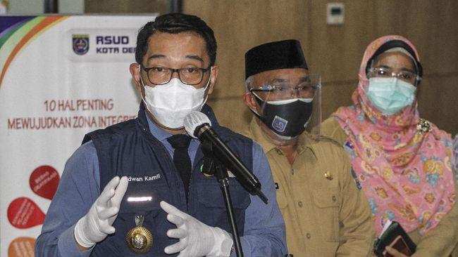 Gubernur Jabar Ridwan Kamil mengatakan simulasi itu menjadi persiapan pelaksanaan vaksinasi Covid-19 gelombang pertama yang rencananya digelar November nanti.