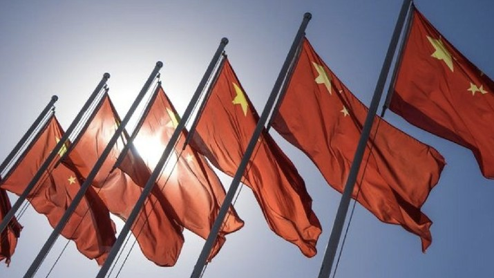 Foto: Ilustrasi bendera China (AP)