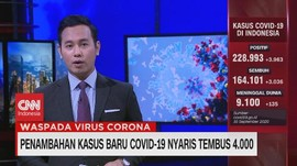 VIDEO: Penambahan Kasus Baru Covid-19 Nyaris Tembus 4.000