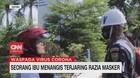 VIDEO: Seorang Ibu Menangis Terjaring Razia Masker